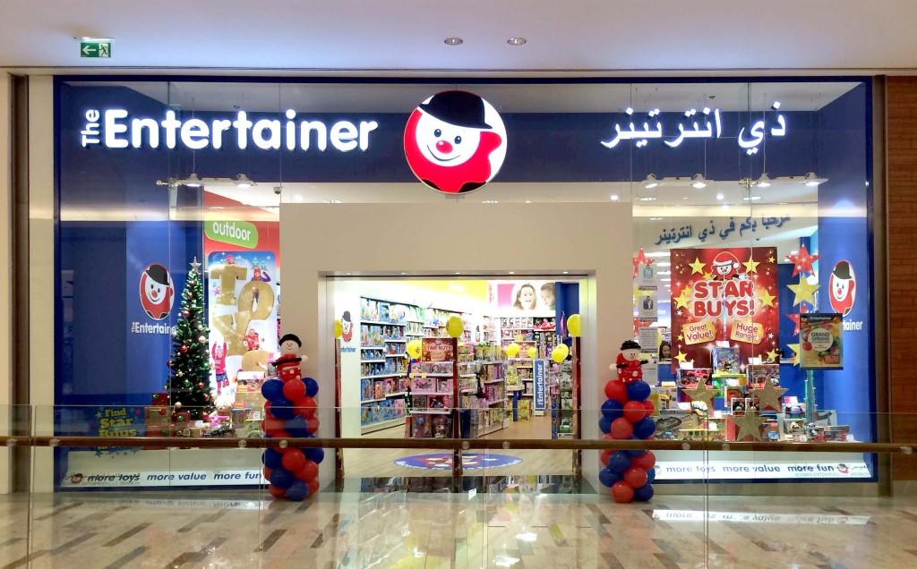The Entertainer Dubai Shop Front Display Simpson Group