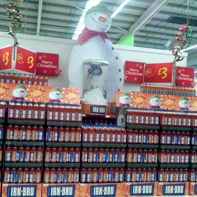 Musical Snowman Merchandise Display for Irn Bru | Simpson Group