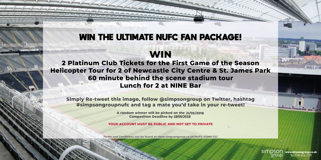 Simpson Group VIP NUFC Competition