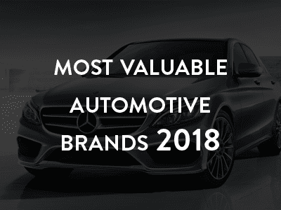 Most valuable automotive brands 2018