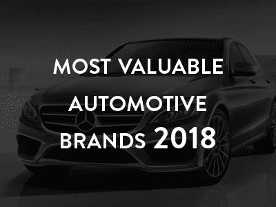 Most valuable automotive brands 2018