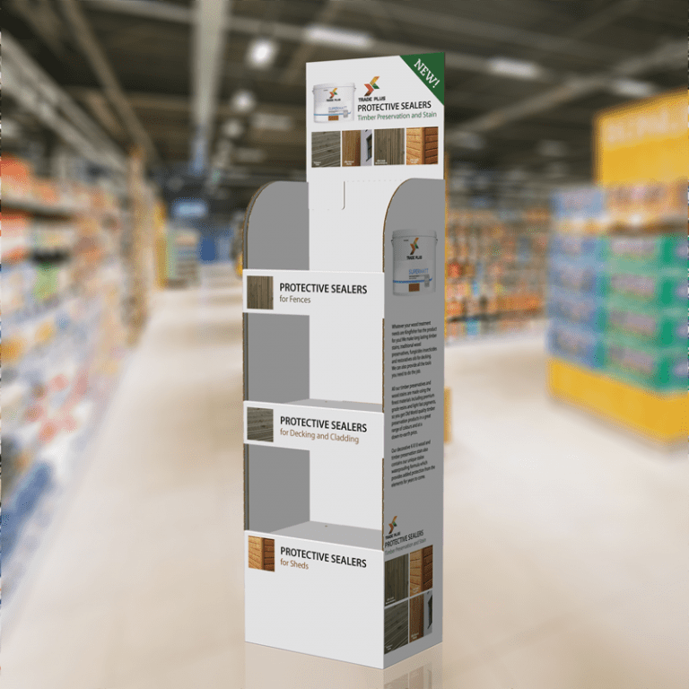 3 Shelf FSDU Retail display stands in the UK