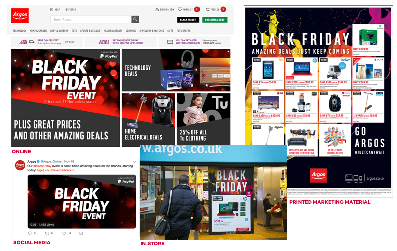 Black friday sales 360 marketing campaign